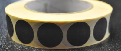 Pastille noir 25mm