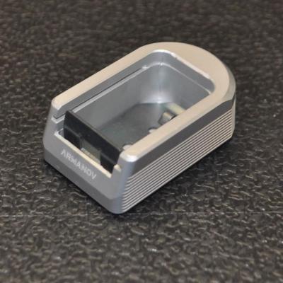 Base chargeur +2 pour CZ -- gris argent
